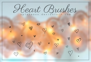 Heart Brushes || xPlateaux by xPlateaux
