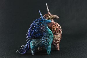 Two mechanical horses by hontor