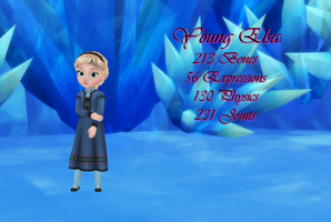 MMD Young Elsa DL by 0-0-Alice-0-0