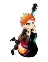 Gaara with guitar by JessyCroft