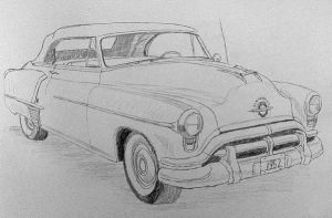 1952 Oldsmobile Sketch by Daniel-Storm