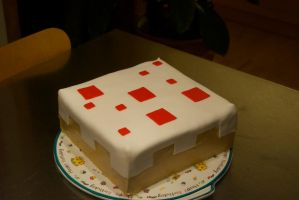 Minecraft cake. by Quantum-Toast