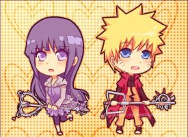 Chibi NaruHina Keyblade by Quiss