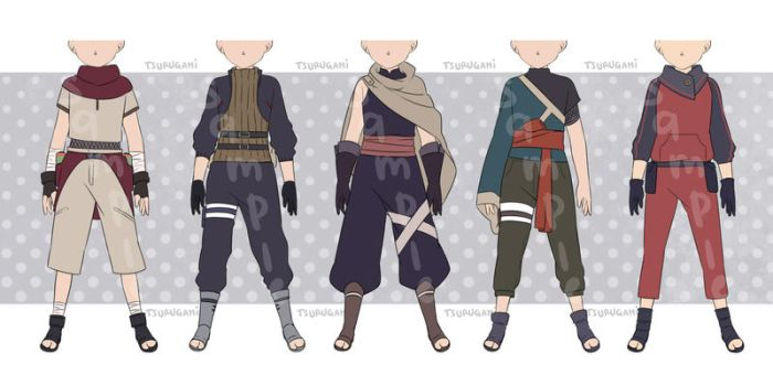 [CLOSED] Naruto / Ninja Outfit Adoptable by tsurugami
