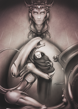 Tribute to H.R. Giger by Tr01ka
