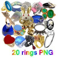 20 Rings PNG by JEricaM