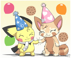 Happy Birthday to us by pichu90