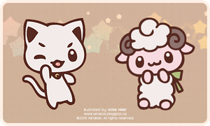 Commission: Cat and Sheep Emoji by KiiroiKat