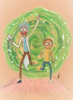 Rick and Morty by Nawkien