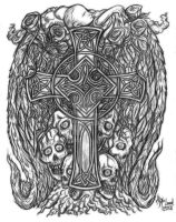 Celtic Cross Tattoo Design by jdmacleod