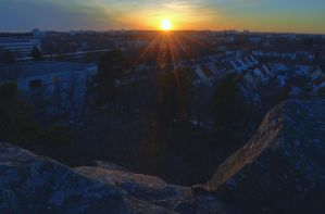 Sunset from Mountain Top VII by HenrikSundholm