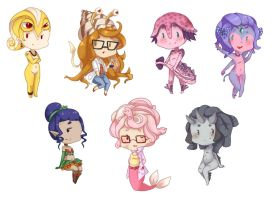 Monstergirl chibis by HEARTZMD