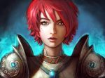 red hair lady by in-house