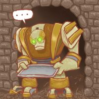 Servile Golem by Melyon by Robot-drawing-club