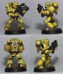 Imperial Fist Space Marine by etiennekendrick