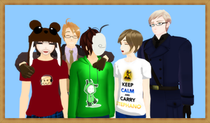 [MMD] A big happy family by PikaBlaze