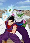 Gohan and Piccolo Colored by darkhawk5