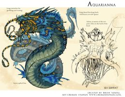 Aquarianna - Sea serpent by Onikaizer