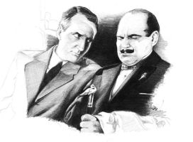Poirot and Hastings by CeskaSoda