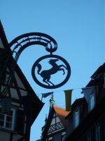 Horse sign and sky by GabrielWings