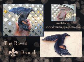 The Raven Brooch SOLD by natamon