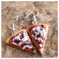 Olive Pizza Earrings by TeenyTinyEats