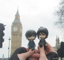 Nendoroids Kuroshitsuji in London :3 by Melkpso