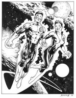 Green Lantern Kyle and Soranik by Bankster