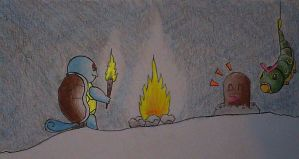 Squirtle makes fire by Mega-X-stream