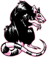 Drawlloween 2014, day 3- Rat by darksilvania