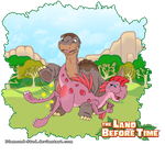 Littlefoot and Ruby by Diamond-Stud