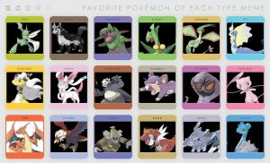 Favorite Pokemon of Each Type ~Meme~ by TheDragonInTheCenter