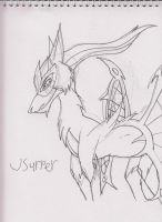 Armoured Usurper sketch by Kitty-of-Doom524