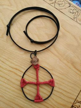 Red cross pendant by AngelGuerra