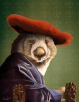 Wombat with A Red Hat by TaraSullivan