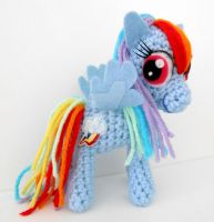 Rainbow Dash Amigurumi Plushie by MadameWario