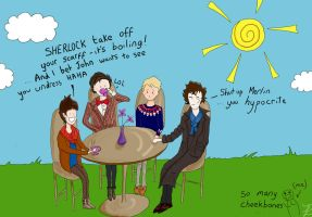 BBC Sherlock Partyyy by Lid-the-squid