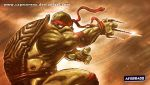 RAPHAEL TMNT PSP WALLPAPER by CapMoreno