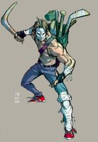 Casey Jones Color by Fpeniche
