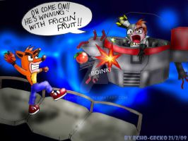 Crash Vs. N.Gin by Echo-Gecko