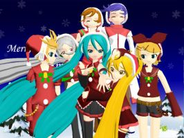 MMD VOCALOID Christmas Models DL by Invader-Alexis