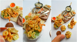 Miniaturefood 1:12 scale : Fried fish scene. by Valentina-PinkCute
