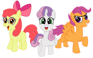 Cutie Mark Crusaders by AleximusPrime
