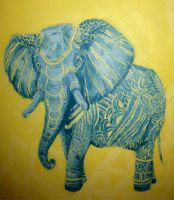 Painted Elephant by gargoylekitty