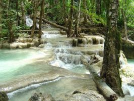 Erawan waterfalls by MichelleHaslam
