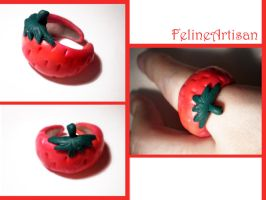 Strawberry ring by FelineArtisan