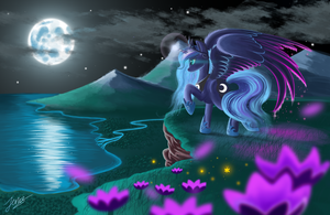 Cliffside by the Moon by Duskie-06