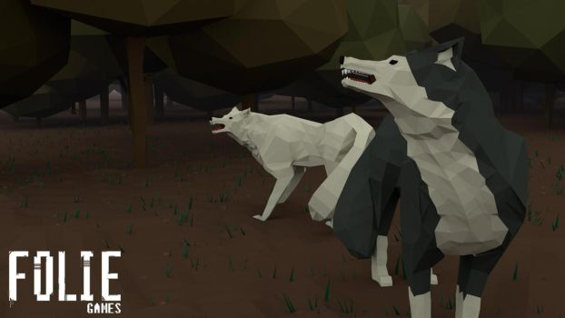 Low poly wolves by FolieGames