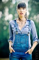 Michelle in overalls by Kama-Photography
