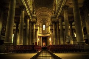 Arras Abbey Interior by JackSivyer